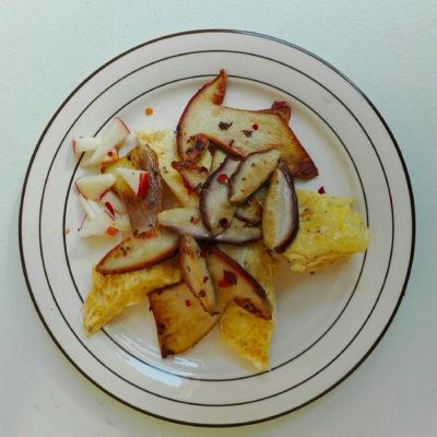 omelette aux cèpes de Montselgues