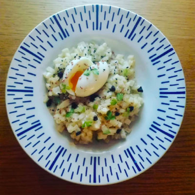 risotto de céleri et œuf mollet