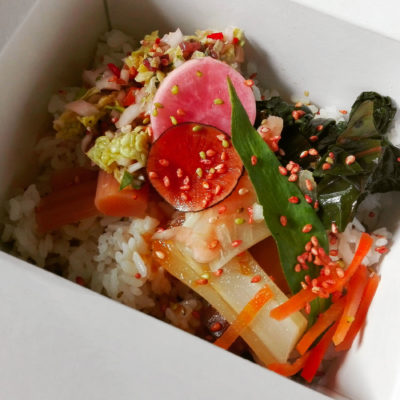 riz vinaigré aux légumes de saison - pickles