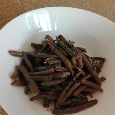 haricots verts au jus de raisin concord